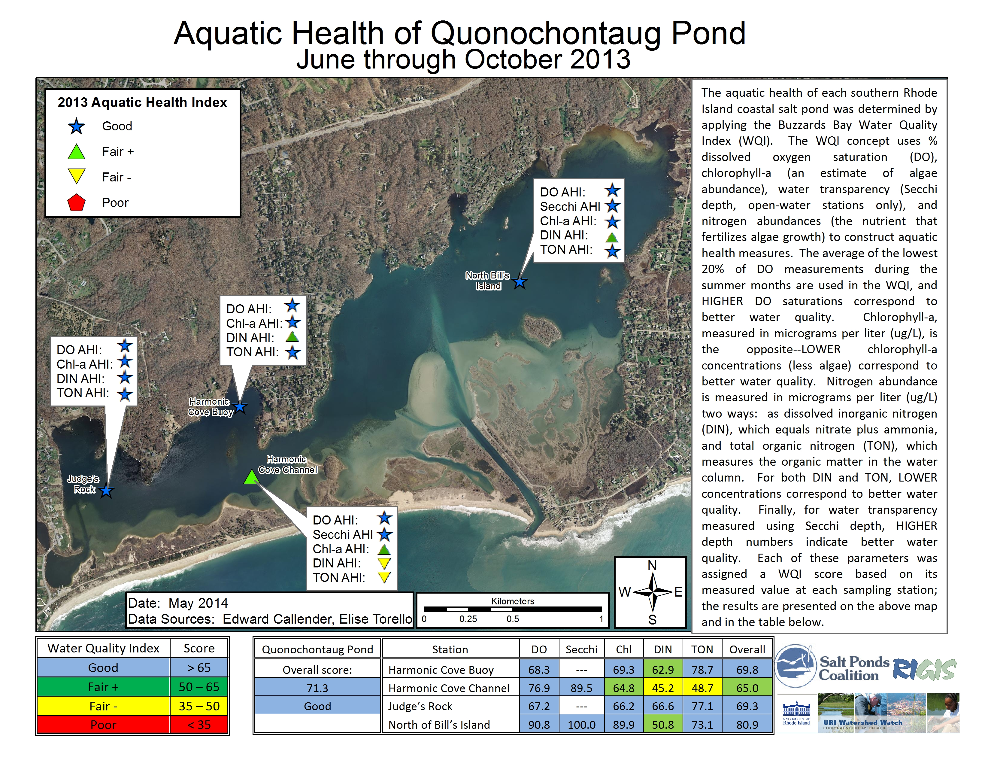 Quonochontaug pond 2013 quonochontaug pond ahi map geenschuldenfo Image collections