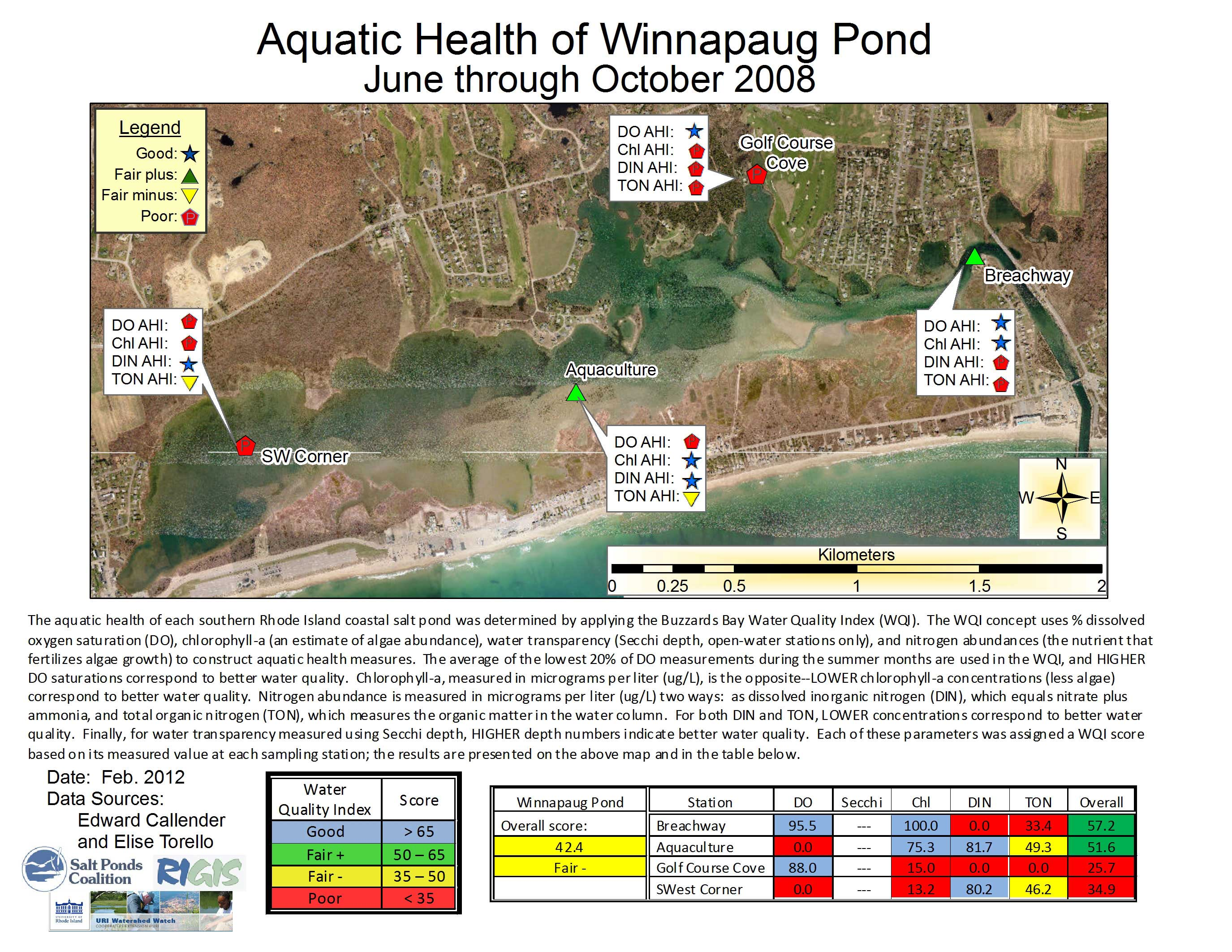 Winnapaug2008g 2008 aquatic health index map nvjuhfo Images